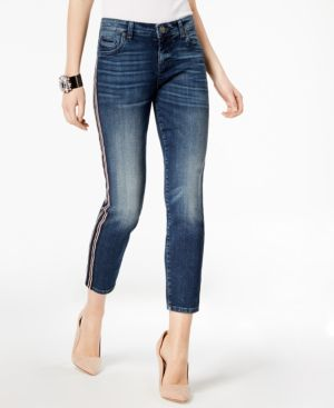 Kut from the Kloth Catherine Striped Straight-Leg Jeans 6108587