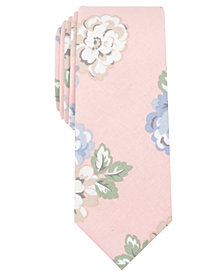 Bar III Men's Shiyama Floral Skinny Tie, Created for Macy's