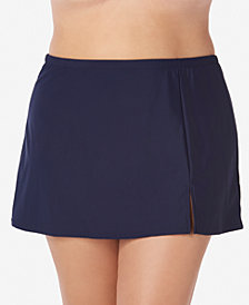 Swim Solutions Plus Size Swim Skirt, Created for Macy's