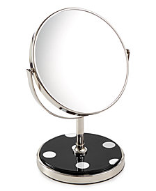 kate spade new york Inset Black Deco Dot Vanity Mirror
