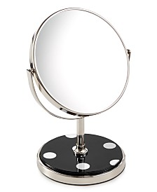 kate spade new york Inset Black Deco Dot Vanity Mirror