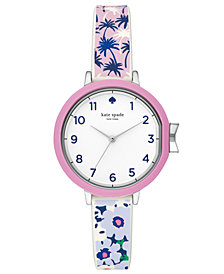 kate spade new york Women's Park Row Multicolored Silicone Strap Watch 34mm