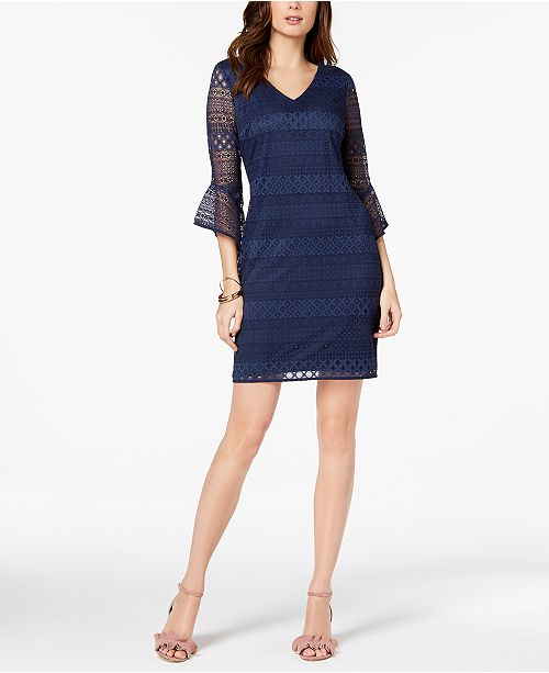 Alfani Petite Lace Shift Dress Created For Macys Dresses