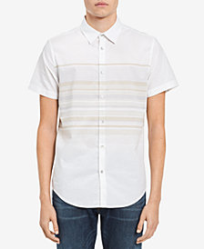 Calvin Klein Jeans Men's Horizontal Striped Shirt