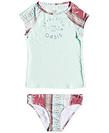 Roxy 2-Pc. Rash Guard Swim Set, Big Girls