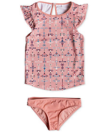 Roxy 2-Pc. Printed Tankini Swimsuit, Little Girls
