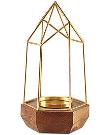 Madison Park Barraca Pyramid Candle Holder Large