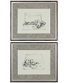 Uttermost Stowaway Dog 2-Pc. Printed Wall Art Set