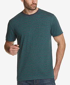 Weatherproof Vintage Men's Thin-Striped Pocket T-Shirt