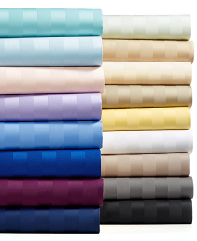 Charter Club Damask Stripe Sheet Sets, 550 Thread Count 100% Supima Cotton, Created for Macy's