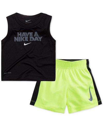 Nike Baby Boy Clothes Awesome Nike Baby Boys 60Pc GraphicPrint TShirt Shorts Set Sets