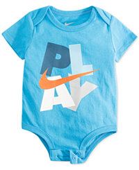 Nike Baby Boys Graphic-Print Bodysuit (0-3 months,Caribbean)