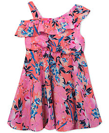 Rare Editions Baby Girls Floral-Print Off-The-Shoulder Dress