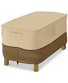 Small Rectangle Ottoman Side Table Cover, Quick Ship