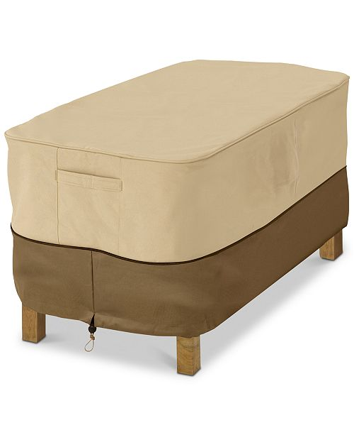 Classic Accessories Small Rectangle Ottoman Side Table Cover, Quick Ship