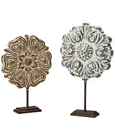 Madison Park Harlowe Painted Iron Sculpture Set of 2