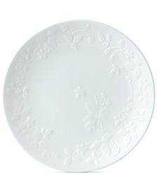 Wild Strawberry White Salad Plate