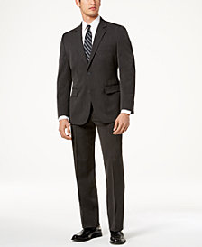 Nautica Men's Slim-Fit Active Stretch Charcoal Corduroy Suit