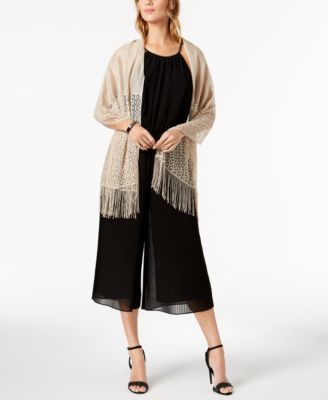 Knit Fringe Evening Wrap, Created for Macy's