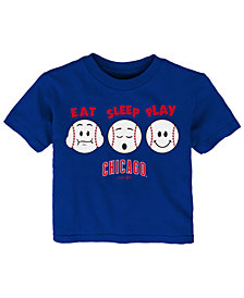 Outerstuff Chicago Cubs Eat, Sleep, Play T-Shirt, Infant Boys (12-24 Months)