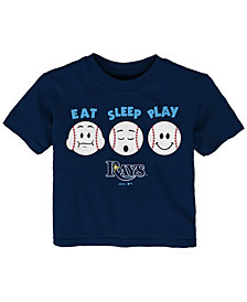Outerstuff Tampa Bay Rays Eat, Sleep, Play T-Shirt, Infant Boys (12-24 Months)