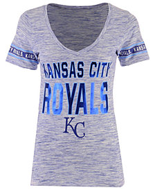 5th & Ocean Women's Kansas City Royals Space Dye Sleeve T-Shirt