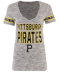 Women's Pittsburgh Pirates Space Dye Sleeve T-Shirt
