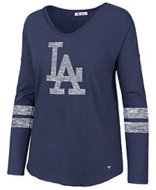 '47 Brand Women's Los Angeles Dodgers Court Side Long Sleeve T-Shirt