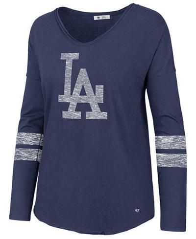 '47 Brand Women's Los Angeles Dodgers Court Side Long Sleeve T-Shirt
