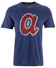 '47 Brand Men's Atlanta Braves Scrum Logo T-Shirt