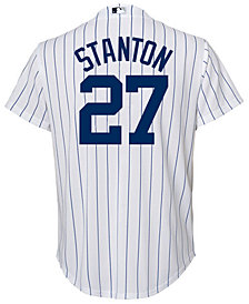 Majestic Giancarlo Stanton New York Yankees Player Replica Cool Base Jersey, Big Boys (8-20)
