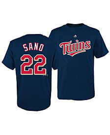 Majestic Miguel Sano Minnesota Twins Official Player T-Shirt, Big Boys (8-20)