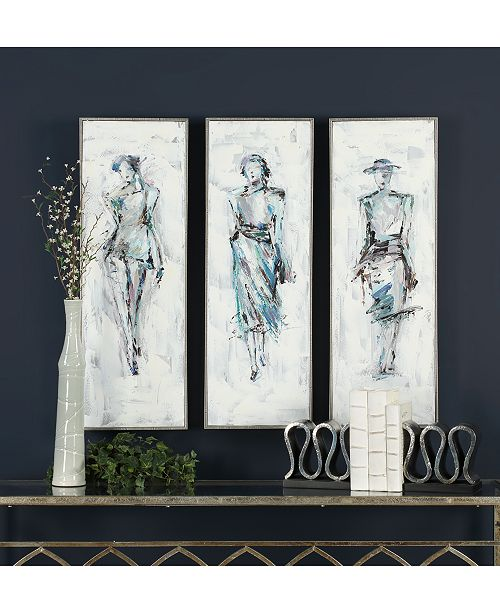 Uttermost Styling 3-Pc. Hand-Painted Wall Art Set - Wall Art - Macy\'s