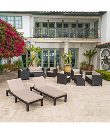 Brooklyn 10-Pc. Patio Set, Quick Ship