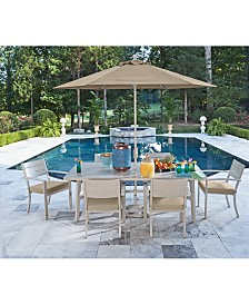 "CLOSEOUT! Beach House 7-Pc. Dining Set (84"" x 42"" Dining Table and 6 Dining Chairs), with Sunbrella® Cushions, Created for Macy's"