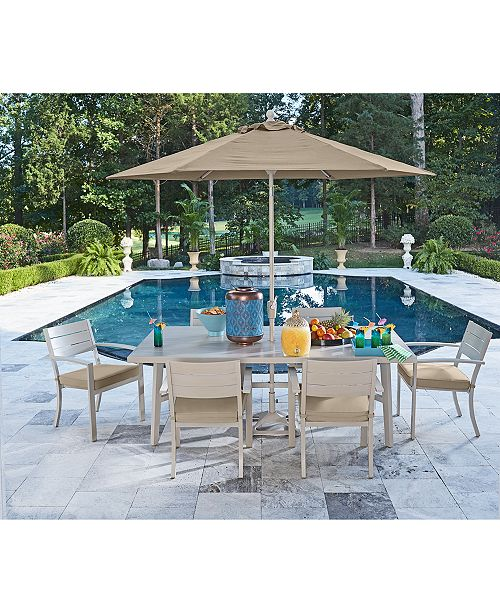 Furniture Beach House Outdoor Dining Collection With Sunbrella