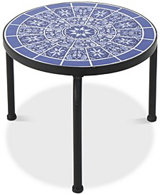 Hailey Round Side Table, Quick Ship