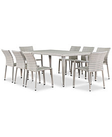 Santos 9-Pc. Outdoor Dining Set, Quick Ship