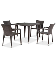Franklin 5-Pc. Outdoor Dining Set, Quick Ship
