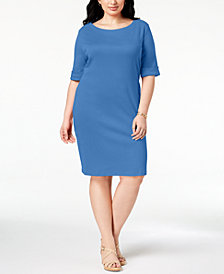 Karen Scott Plus Size T-Shirt Dress, Created for Macy's