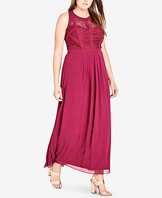 City Chic Plus Size Sleeveless Maxi Dress Dresses Plus