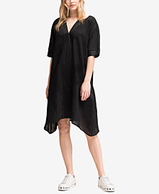 DKNY V-Neck Linen Tunic Dress, Created for Macy's