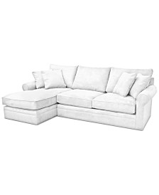 Doss II 2-Pc. Fabric Chaise Sectional Sofa