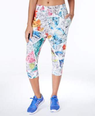 Dry Printed Cropped Training Pants