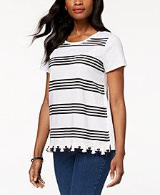 Charter Club Tassel-Trim T-Shirt, Created for Macy's