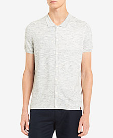 Calvin Klein Men's Short-Sleeve Space-Dyed Sweater