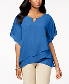 JM Collection Layered Tulip-Hem Top, Created for Macy's
