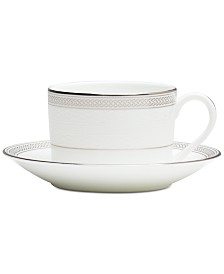 Waterford Olann Platinum Teacup & Saucer