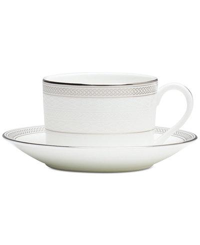 Waterford Olann Platinum Teacup & Saucer