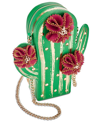 Lookin' Sharp Mini Cactus Crossbody by Betsey Johnson